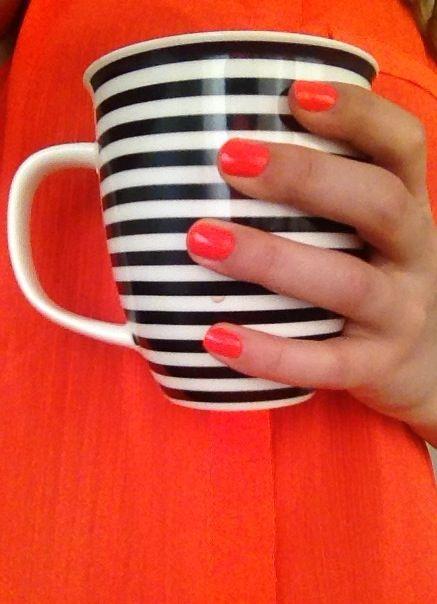 Neon orange nails - Summer 2013 :)