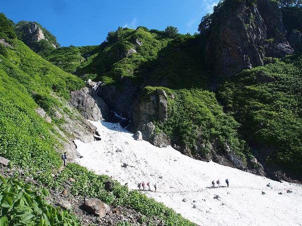 猿倉から白馬鑓温泉の登山ルート案内