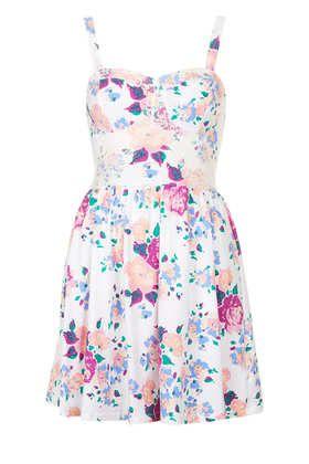 Petite Rose Print Tunic Dress