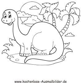 kostenlose ausmalbilder | ausmalbild kleiner dinosaurier in 2020 | ausmalbilder, kostenlose