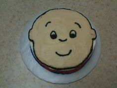 Caillou Cake: not great, but good inspiration.
