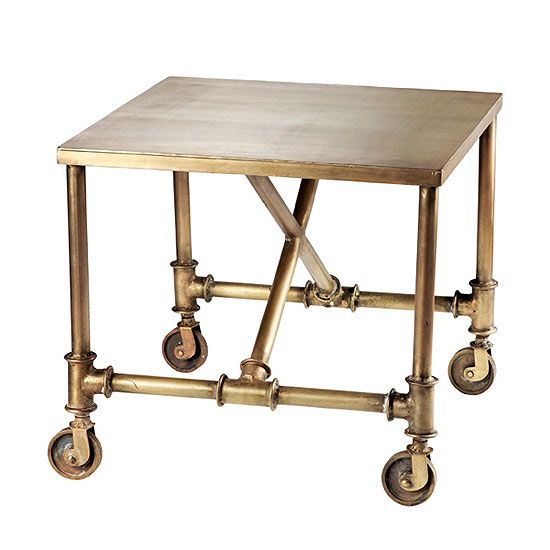 industrial chic side tables | Industrial side table on casters - Canadian Gardening