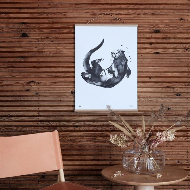 Teemu Järvi OTTER Print |Eco-Friendly Artwork from Finland | Wedding Gift & Registry Ideas