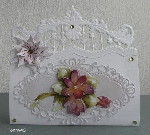 Voorbeeldkaart - bloem - Categorie: Stansapparaten - Hobbyjournaal uw hobby…