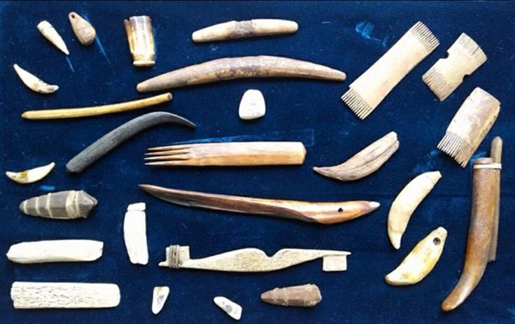 Collection Of Ancient Ivory And Bone Inuit Eskimo