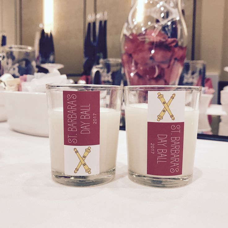 Custom-made votives lit up the military ball they crashed. Light up your special event with At Ease Candles!