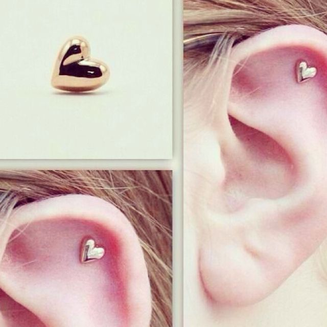 HEART CARTILAGE EARRING !