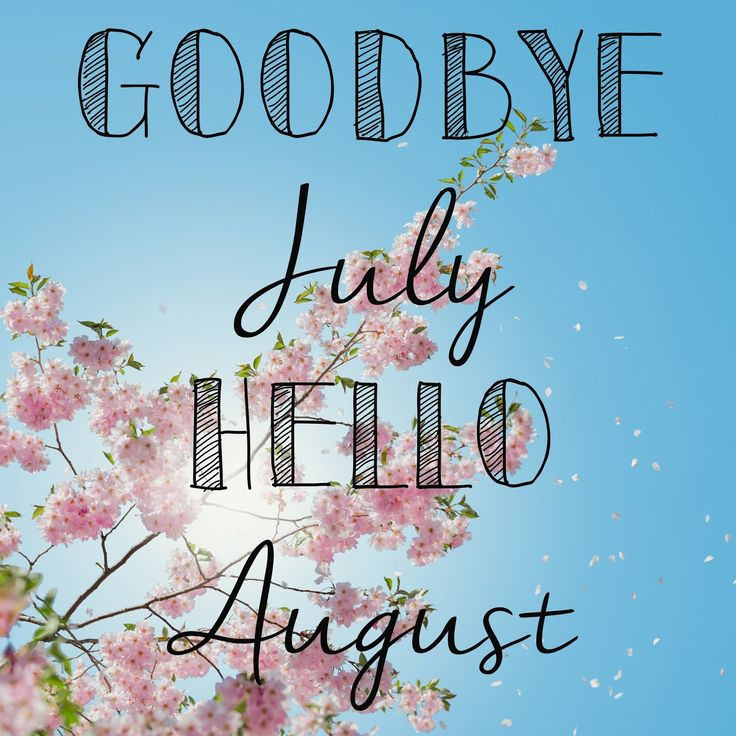 Goodbye July, Hello August   Happy New Year 2018
