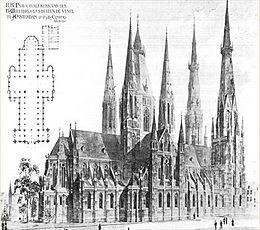 Saint Willibrordus church was a landmark on the corner of the Ceintuurbaan and the Amsteldijk until torn down.