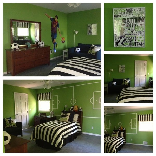 This color and mural for other walls soccer room ideas pinterest - Soccer murals for bedrooms ...