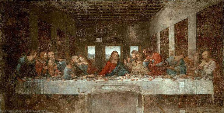 Leonardo Da Vinci-Das letzte Abendmahl vor