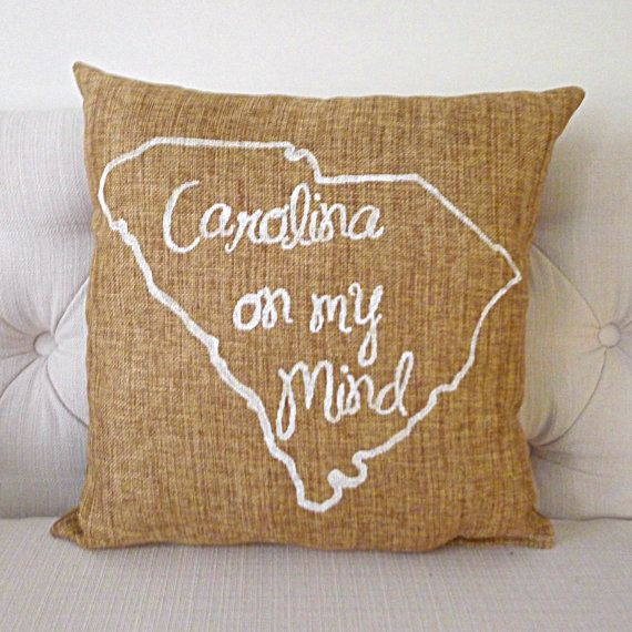 South Carolina Burlap Pillow FREE SHIPPING