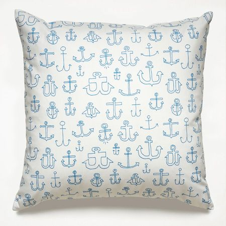 Anchors Blue Pillows | Unison @Saundra Campbell Son