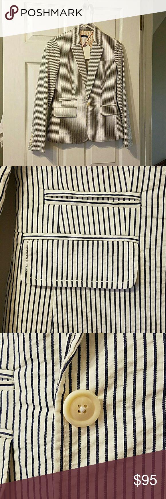 JCrew seersucker blazer Brand new, never worn seersucker blazer from JCrew. J. Crew Jackets & Coats Blazers
