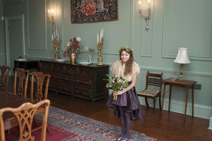 Gorgeous autumn flower girl ... bolero by Blanche in the Brambles, dress by Damselfly Flower Girls