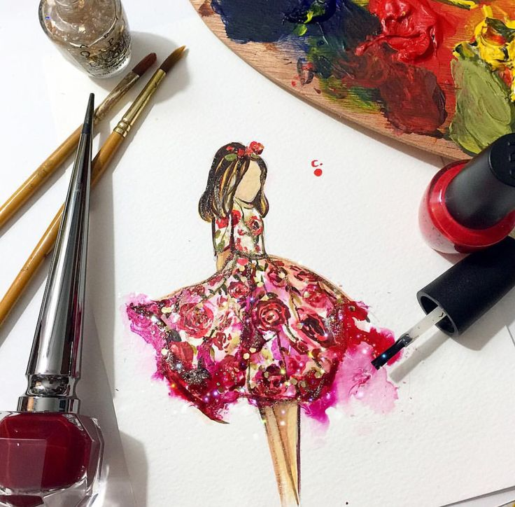 Nail polish on paper by @artclaytion| Be Inspirational ❥|Mz. Manerz: Being well dressed is a beautiful form of confidence, happiness & politeness