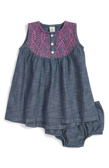 Tucker + Tate Embroidered Chambray Dress (Baby Girls) available at #Nordstrom