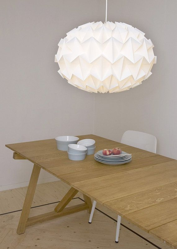 Signature white paper origami lampshade size XL by nellianna- love this for bedroom!!