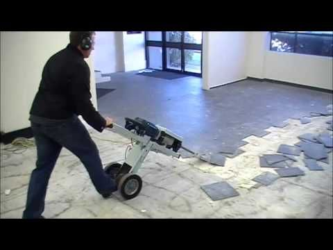 MAKINEX® Jackhammer Trolley JHT   FASTEST WAY TO REMOVE FLOOR TILES    YouTube