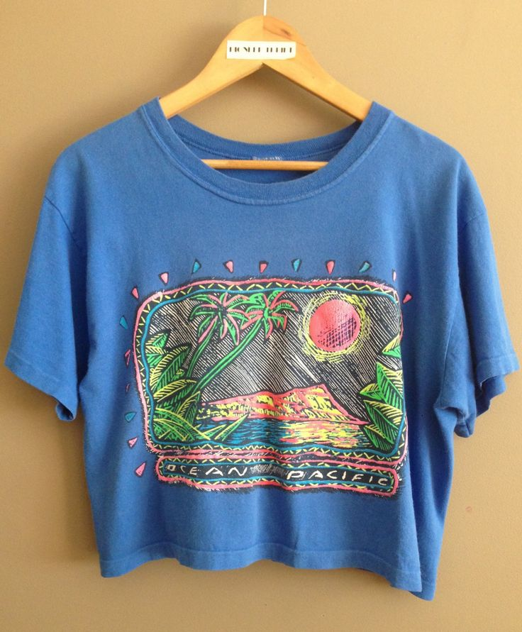 Vintage Ocean Pacific Cropped Tshirt/ Ocean Pacific/ Vintage Crop Top/ Crop Tee/ Surf Tee/ Surfer/ Vintage Surf/ Graphic Tee/ 90s Girl by PioneerThrift on Etsy
