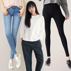 Gmarket - DAONSHOP Skinny jean / high waisted / ankle length /...