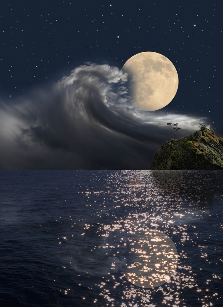 The sea talking with the MOON......... WATER SO BEAUTIFUL** jerry g