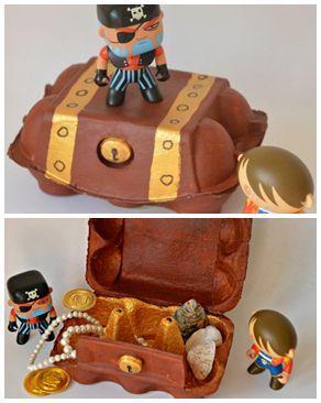 """""""C'est un vrai trésor ?""""  Sean, 4 ans.   + + + +       le matériel nécessaire :  - une boîte de 6 œufs en carton (idéalement avec une..."""