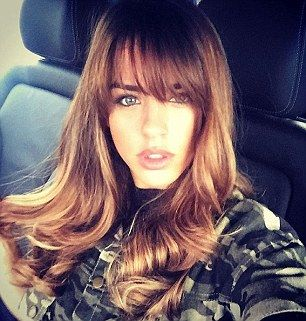 Bouncy blow-dry: Georgia May Foote seems to have shaken off her relationship strife with a stunning new hairdo as illustrated on her Instagram page on Friday