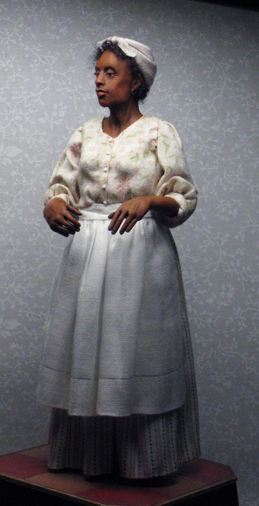OOAK, Miniature Hand Sculpted Doll House Doll, Black Female Cook, Civil War Era