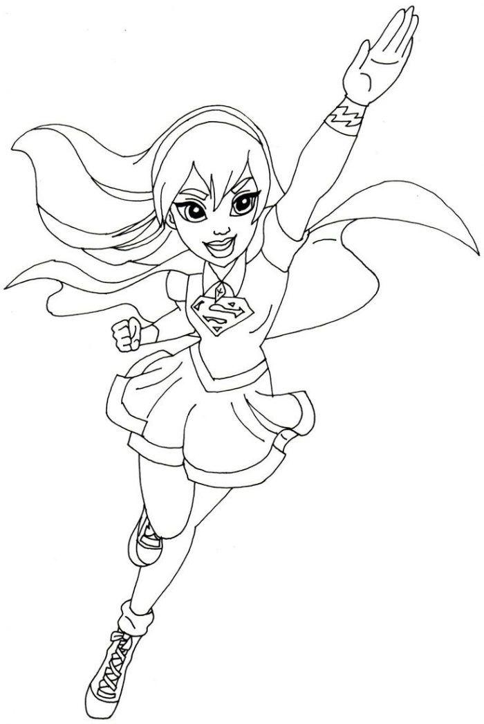 Dibujos de DC Super Hero Girls para colorear e imprimir