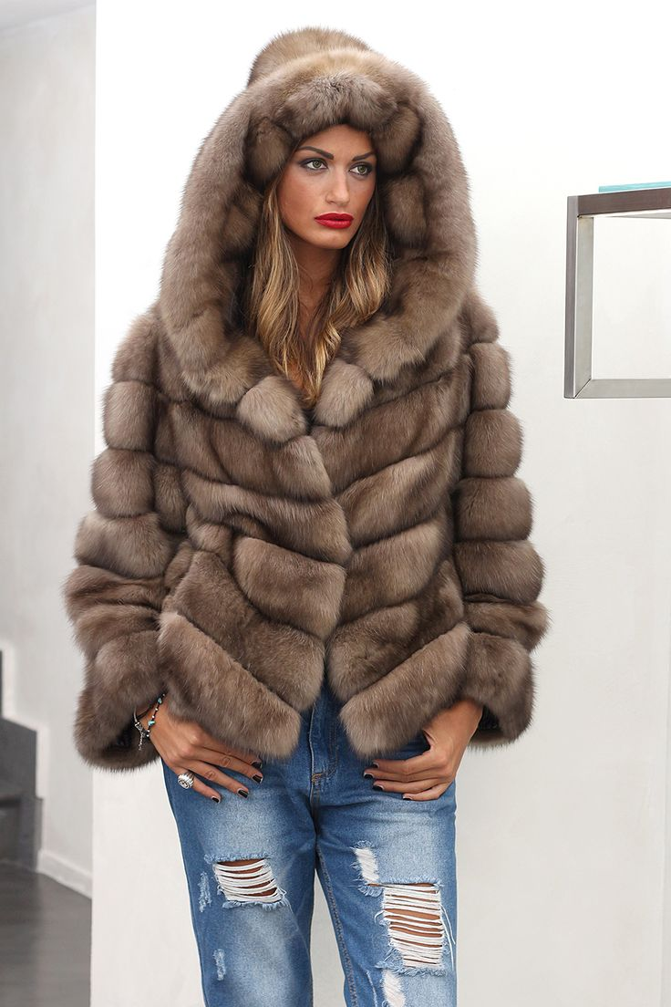 Russian Sable Fur Hooded Jacket