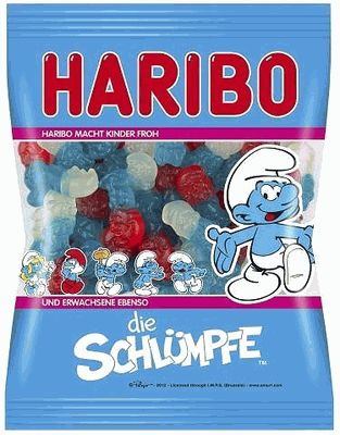 Haribo Die Schluempfe - German candies! { I have a serious thing for gummy candy. It's so bad for you and your teeth and I love it}