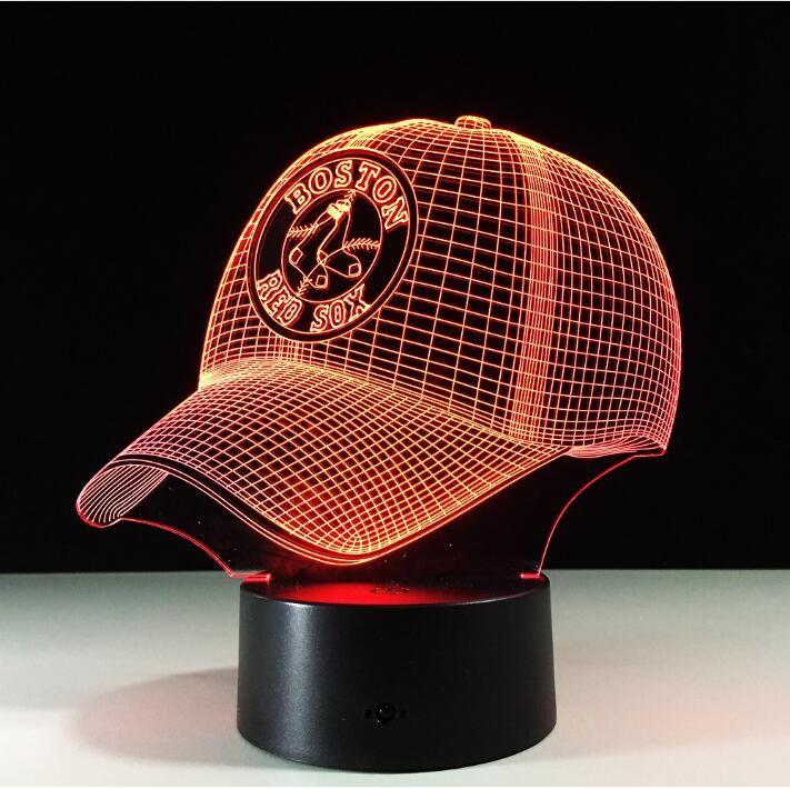 Equipe de Beisebol da MLB Boston Red Sox 3D Colorido Mudando A Cor do LED Table Lamp Night light Melhor Presente do Navio Da Gota em Luzes da noite de Luzes & Iluminaçao no AliExpress.com | Alibaba Group