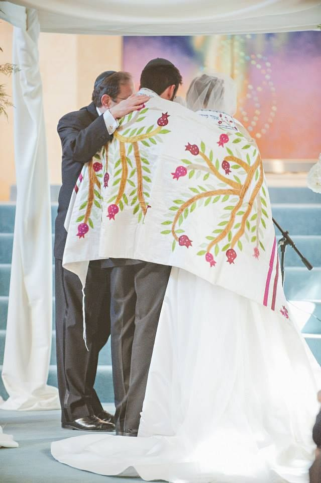 jewish wedding tallit prayer shawl tree of