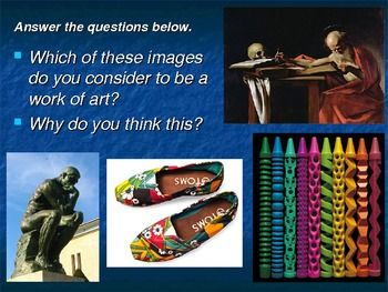 This 58 slide PowerPoint covers six artists that go beyond the canvas. I use this PowerPoint to help students shape a personal definition of what art is. Diem Chau , James Corbett, Eric Grohe, Guido Daniele, Patrick Dougherty, and Christo & Jeanne-Claude are all covered in this presentation.