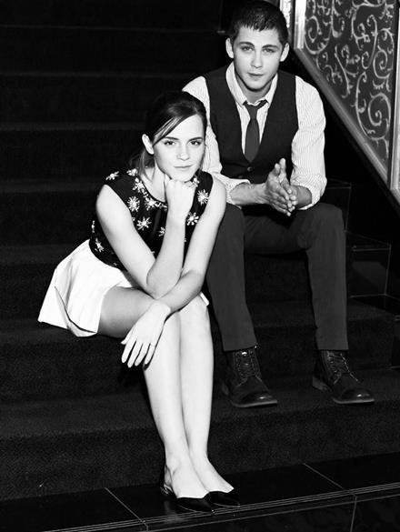 Logan Lerman and Emma Watson at the TIFF Photoshoot for The Perks of Being a Wallflower.