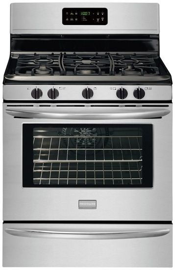 frigidaire gallery 5 cu ft convection gas range stainless steel