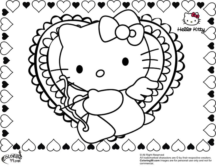 Hello Kitty Heart Coloring Pages : Best hello kitty images on pinterest