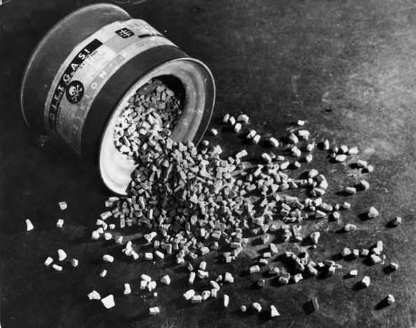 Auschwitz, Poland, An original container of the Zyklon B pellets. Once poured into the gas chamber the pellets would react with the body heat in the air and expel the noxious gas that killed so many.