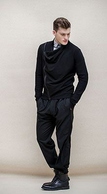 Ioanna Kourbela | DAY TO NIGHT Collection Men FW2015-16 Cardigan Fluidity