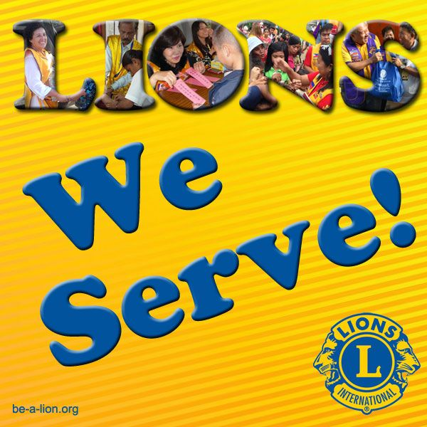 Lions members can use this image for Lions promotional and marketing materials. lionsclubs.org