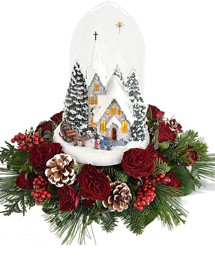 Best thomas kinkade christmas flowers ftd images on