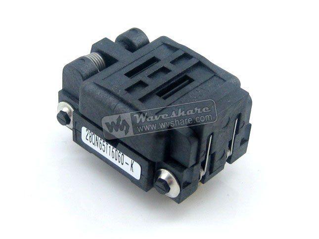QFN28 MLP28 MLF28 28QN65T16060 Plastronics IC Test Burn-in Socket QFN Programming Adapter 0.65mm Pitch #Affiliate