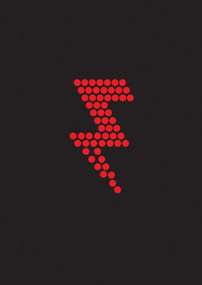 The Killers Art Print//shape of lightning bolt tat I want