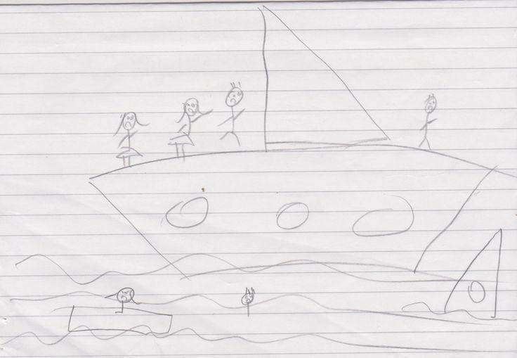Κείμενα και εικόνες από τους μαθητές του Ε2 «Σκέφτομαι ότι το παιδί θα είχε μια καλύτερη ζωή από αυτή που είχε παλιά!! Αλλά μπορεί και όχι. Μάλλον αυτό το παιδί θα είναι σε μία πόλη της Ελλάδας κα…