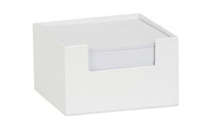 Cache Memo Block Leatherette White