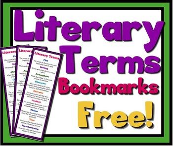 FREE LITERARY TERMS BOOKMARKS: Analyzing Fiction (Setting, Tone, Theme & More!)