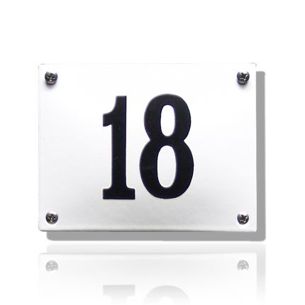 HG-07/WI-ZW emaille huisnummer