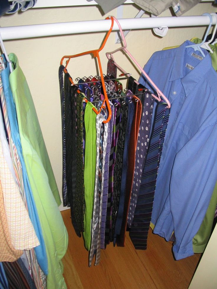 modified tie rack cable neckties and organizers. Black Bedroom Furniture Sets. Home Design Ideas