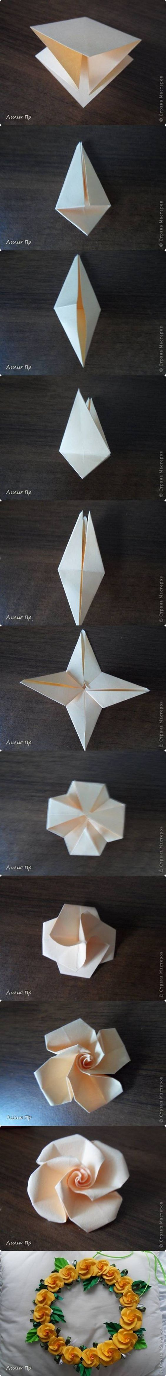 How to DIY Beautiful Origami Rose #craft #Origami: